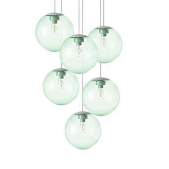 Lustre spheremaker 6 spheres vert led o60cm h25 a 150cm fatboy normal