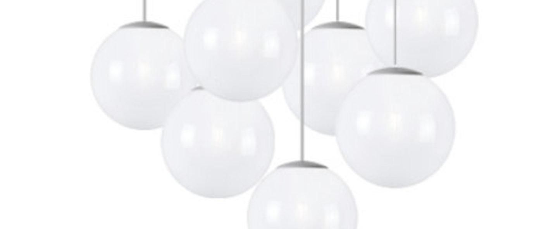 Lustre spheremaker 9 spheres blanc led o90cm h25 a 225cm fatboy normal