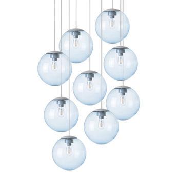 Lustre spheremaker 9 spheres bleu claire led o90cm h25 a 225cm fatboy normal
