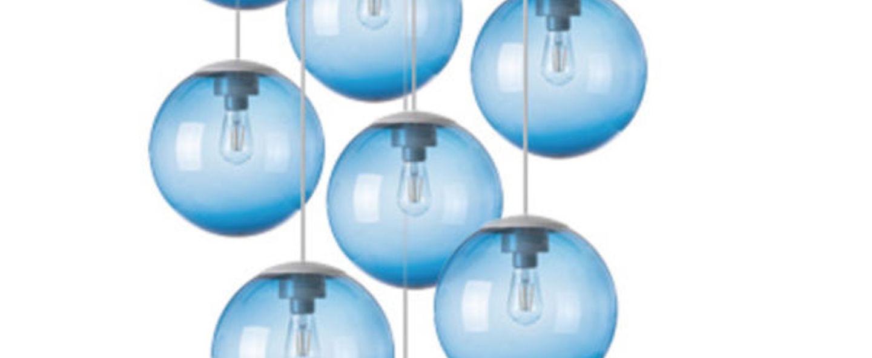 Lustre spheremaker 9 spheres bleu led o90cm h25 a 225cm fatboy normal