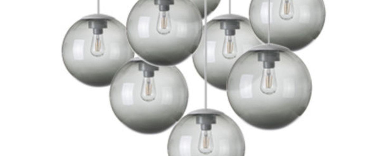 Lustre spheremaker 9 spheres gris led o90cm h25 a 225cm fatboy normal