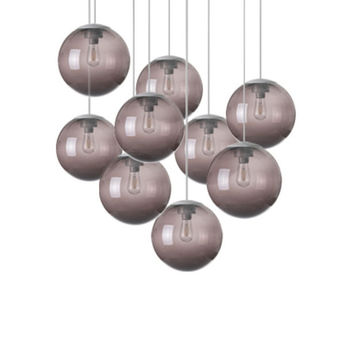 Lustre spheremaker 9 spheres marron led o90cm h25 a 225cm fatboy normal