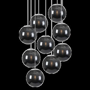 Lustre spheremaker 9 spheres noir led o90cm h25 a 225cm fatboy normal