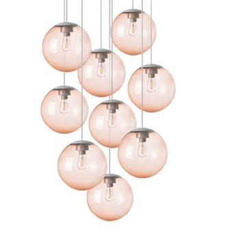 Lustre spheremaker 9 spheres orange claire led o90cm h25 a 225cm fatboy normal