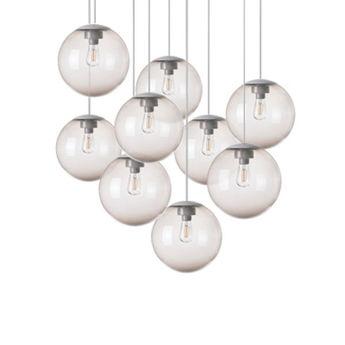 Lustre spheremaker 9 spheres taupe led o90cm h25 a 225cm fatboy normal