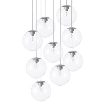 Lustre spheremaker 9 spheres transparent led o90cm h25 a 225cm fatboy normal
