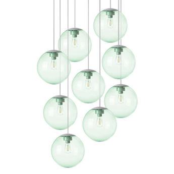 Lustre spheremaker 9 spheres vert led o90cm h25 a 225cm fatboy normal