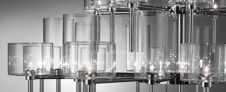 Lustre spillray 30 gris chrome dimmable h57cm o118 8cm axo light normal