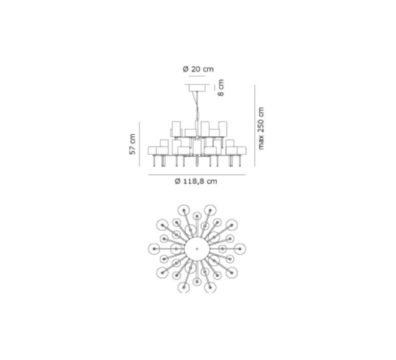 Spillray 30 manuel vivian lustre chandelier  axo light sp 30 gr cr  design signed 34322 product