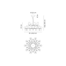 Spillray 30 manuel vivian lustre chandelier  axo light sp 30 gr cr  design signed 34322 thumb
