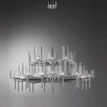 Lustre spillray 30 gris chrome dimmable h57cm o118 8cm axo light normal