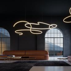 Squiggle 5 giovanni lauda lustre chandelier  rotaliana 1sqh500063zl0  design signed nedgis 115346 thumb