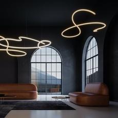 Squiggle 5 giovanni lauda lustre chandelier  rotaliana 1sqh500063zl0  design signed nedgis 115347 thumb