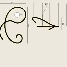 Squiggle 5 giovanni lauda lustre chandelier  rotaliana 1sqh500063zl0  design signed nedgis 115348 thumb