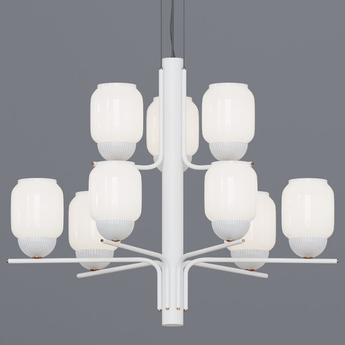 Lustre the chandelier 15 bras blanc o107cm h114cm alma light normal