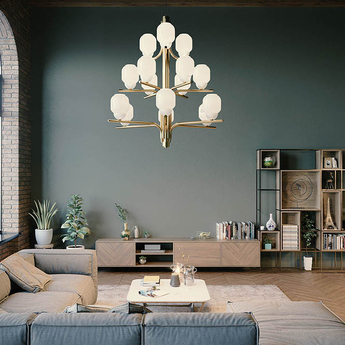 Lustre the chandelier 15 bras laiton o107cm h114cm alma light normal