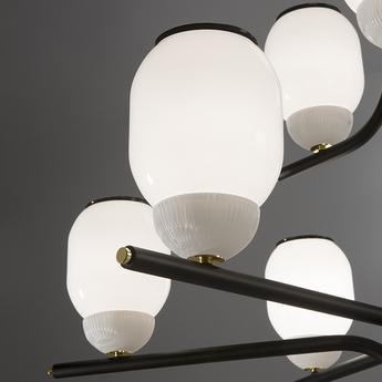 Lustre the chandelier 15 bras noir o107cm h114cm alma light normal