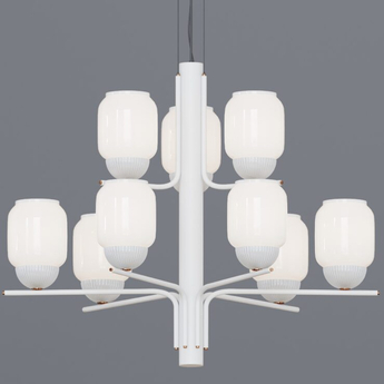 Lustre the chandelier 9 bras blanc o107cm h83cm alma light normal