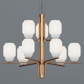 Lustre the chandelier 9 bras laiton o107cm h83cm alma light normal