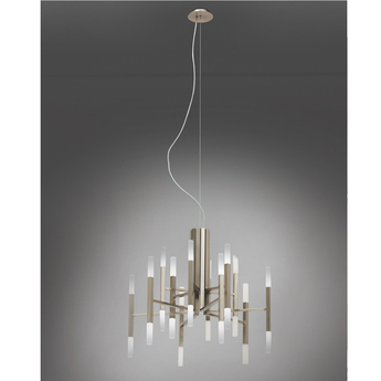 Lustre thelight 12 bras nickel mat led 2700k 105lm o67 5cm h60cm alma light normal