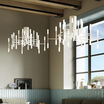 Lustre thelight 18 bras blanc led 2700k 105lm o102cm h70cm alma light normal