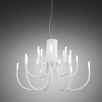 Lustre thepalm 12 bras blanc led 2700k 158lmo75cm h56cm alma light normal