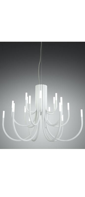 Lustre thepalm 30 bras blanc led 2700k 158lmo115cm h76cm alma light normal
