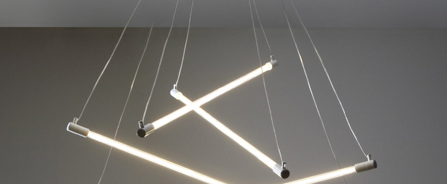 Lustre tube systeme shanghai blanc o150cm martinelli luce normal