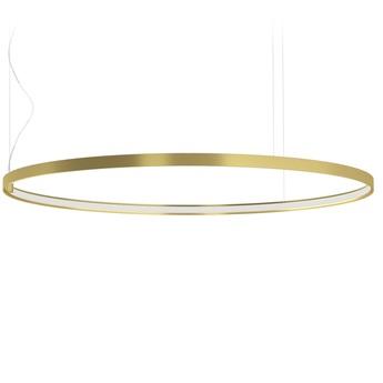 Lustre zero round sans rosace laiton led 2700k 4079lm o98cm h3cm panzeri normal
