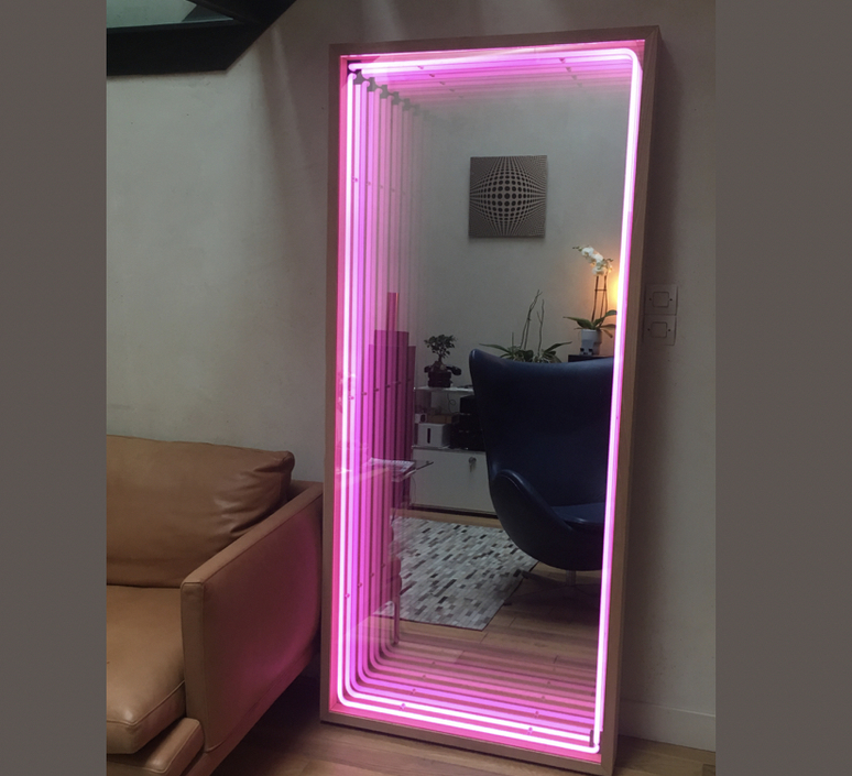 Miroir maxi benjamin mery mobilier lumineux furniture  lumneo maxi02240101   design signed nedgis 71389 product