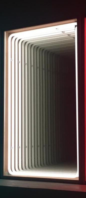 Mobilier lumineux miroir mini bois chene neon blanc l41cm h70cm lumneo normal