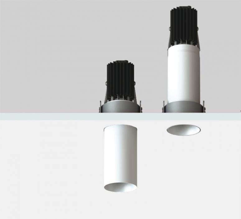 Nyx tube spot encastre telescopique mokka h70mm o40mm luciferos 105713 product