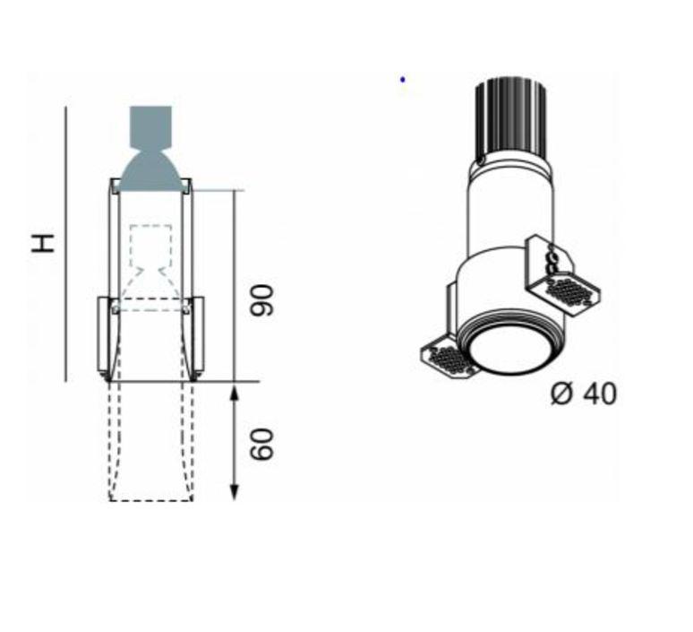 Nyx tube spot encastre telescopique mokka h70mm o40mm luciferos 27625 product