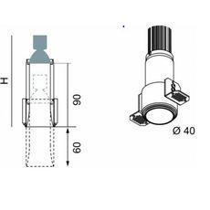 Nyx tube spot encastre telescopique mokka h70mm o40mm luciferos 27625 thumb
