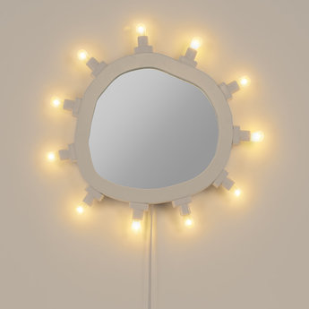 Objet lumineux mirror regular blanc 2700k 630lm l55cm h67cm seletti normal