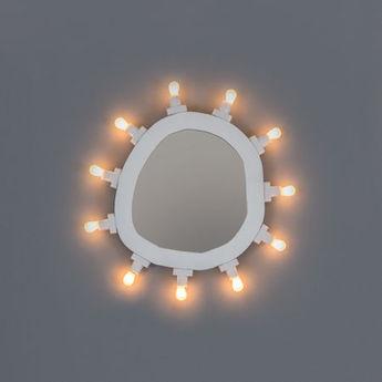 Objet lumineux mirror small blanc 2700k 250lm l30cm h32cm seletti normal