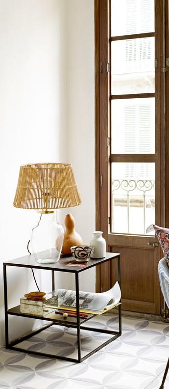 Pied de lampe verre transparent et laiton m o19 cm h30cm tine k home normal