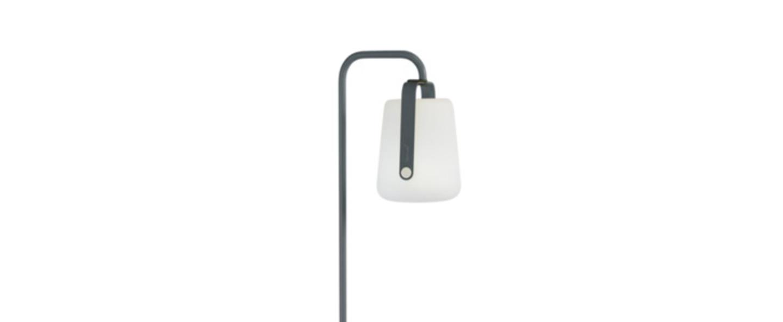 Pied simple pour baladeuse d exterieur balad gris orage h157cm l20cm led fermob normal