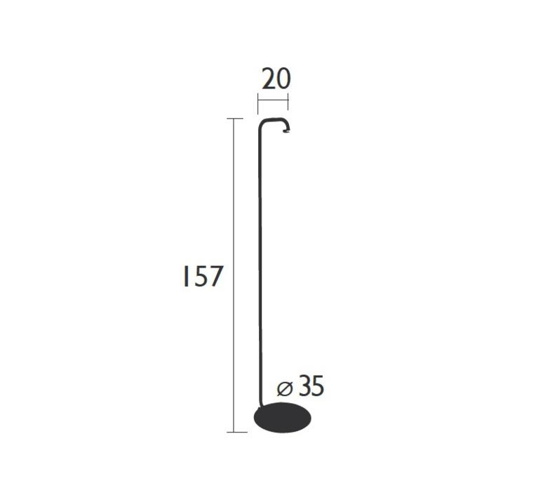 Balad tristan lohner lampadaire d exterieur outdoor floor light  fermob 3631 26  design signed 32808 product