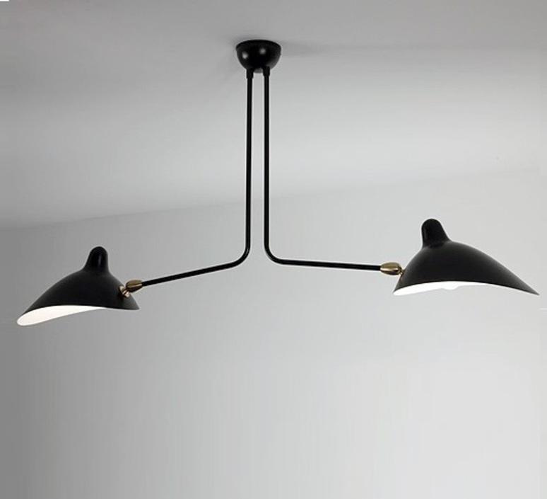 2 bras fixes serge mouille editionssergemouille p2b noir luminaire lighting design signed 20842 product