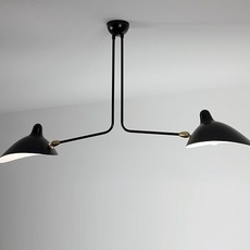 2 bras fixes serge mouille editionssergemouille p2b noir luminaire lighting design signed 20842 thumb