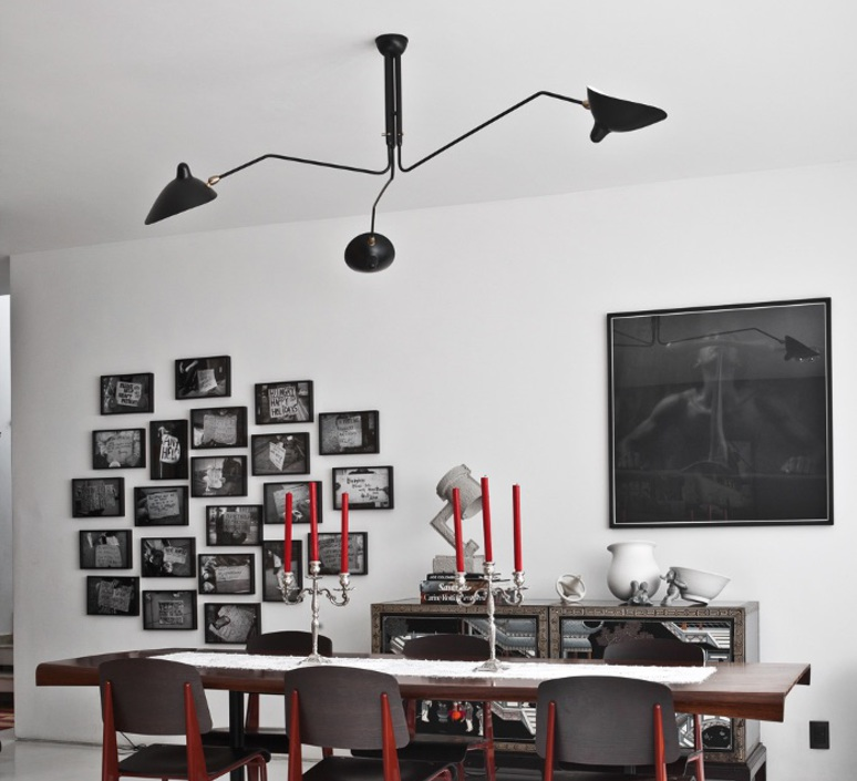 plafonnier 3 bras pivotants noir 135cm serge mouille luminaires nedgis. Black Bedroom Furniture Sets. Home Design Ideas