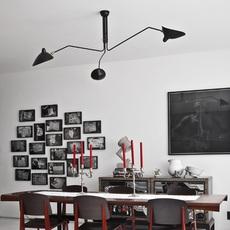 3 bras pivotants serge mouille editionssergemouille p3b noir luminaire lighting design signed 20843 thumb