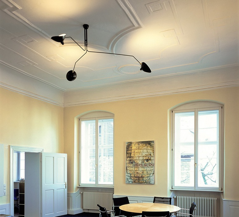 3 bras pivotants serge mouille editionssergemouille p3b noir luminaire lighting design signed 20845 product