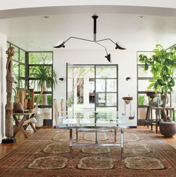 plafonnier 3 bras pivotants noir 135cm serge mouille luminaires nedgis. Black Bedroom Furniture Sets. Home Design Ideas
