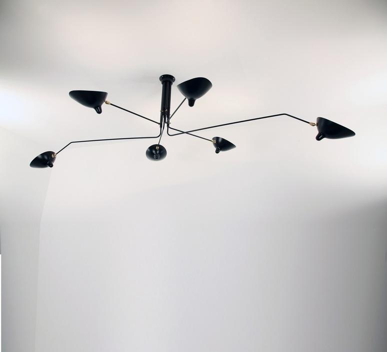 3 bras pivotants serge mouille editionssergemouille p3b noir luminaire lighting design signed 76717 product