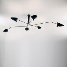 3 bras pivotants serge mouille editionssergemouille p3b noir luminaire lighting design signed 76717 thumb