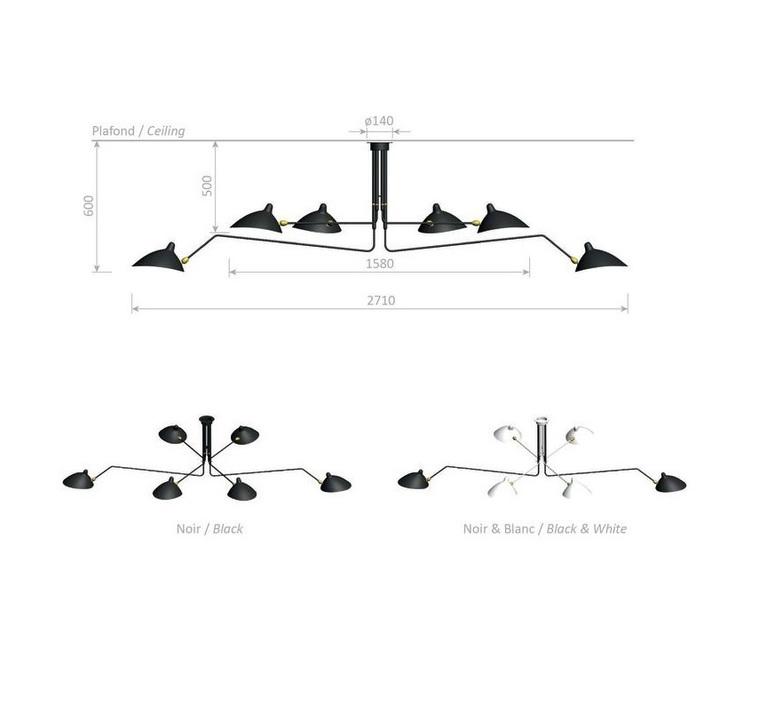 3 bras pivotants serge mouille editionssergemouille p3b noir luminaire lighting design signed 76719 product