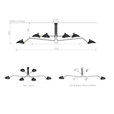 3 bras pivotants serge mouille editionssergemouille p3b noir luminaire lighting design signed 76719 thumb