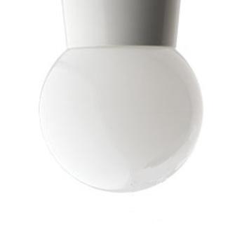 Plafonnier 72 blanc globe plastique o16 h20cm zangra normal